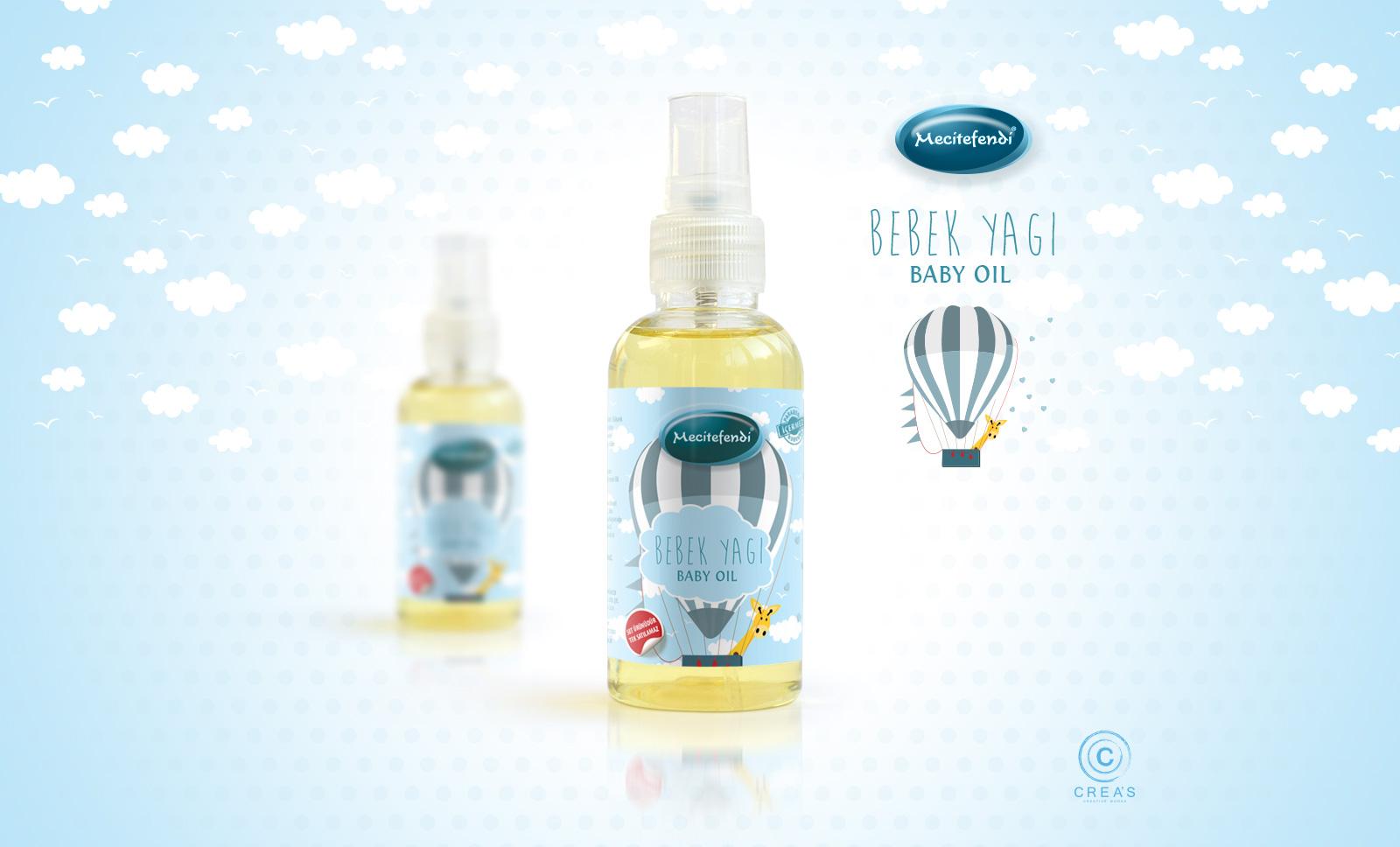 Creas Creative Tasarım ve Reklam Ajansı İzmir - Bebek Yağı Etiket Tasarımı