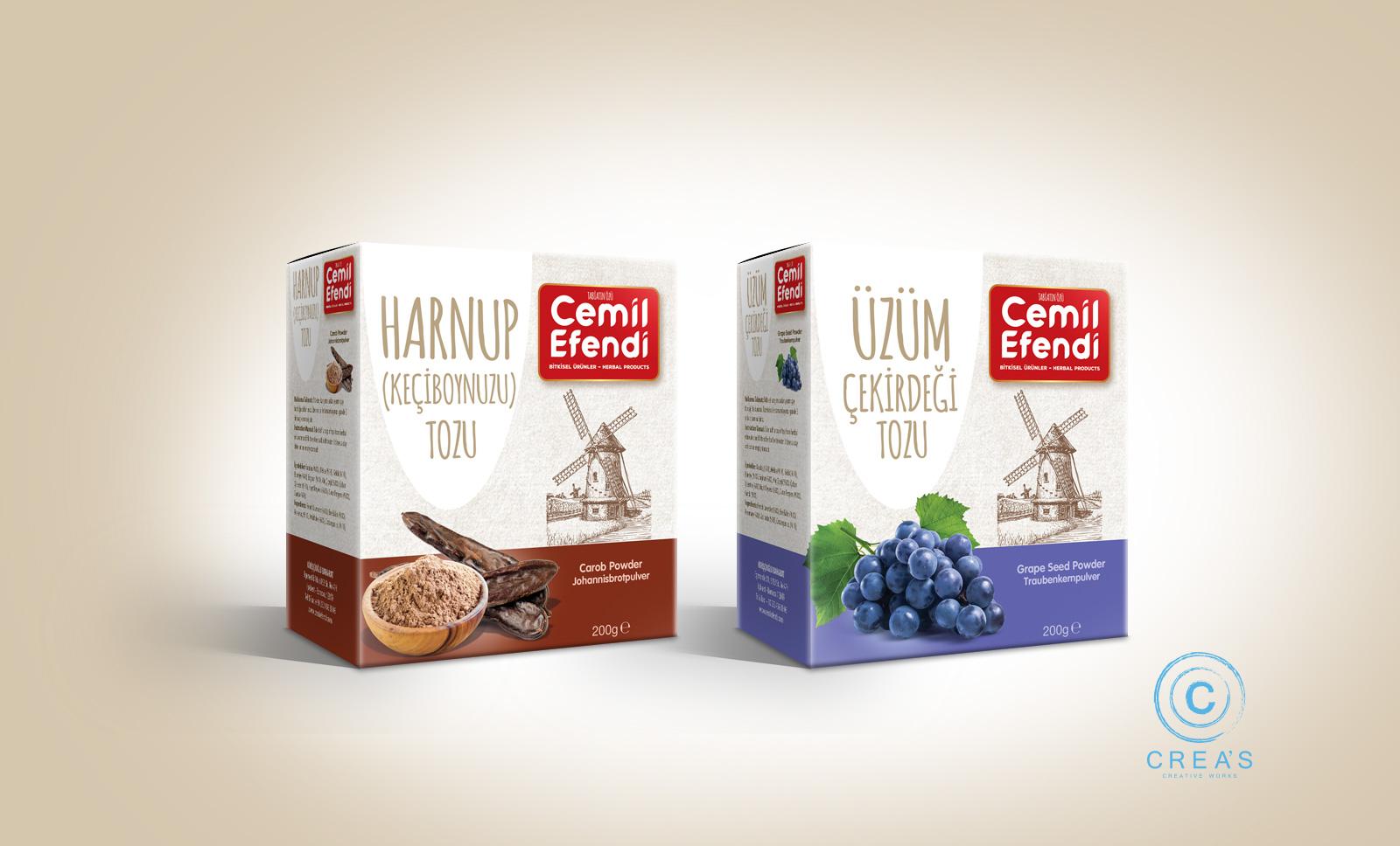 Creas Creative Tasarım ve Reklam Ajansı İzmir - Bitkisel toz ambalaj tasarımı