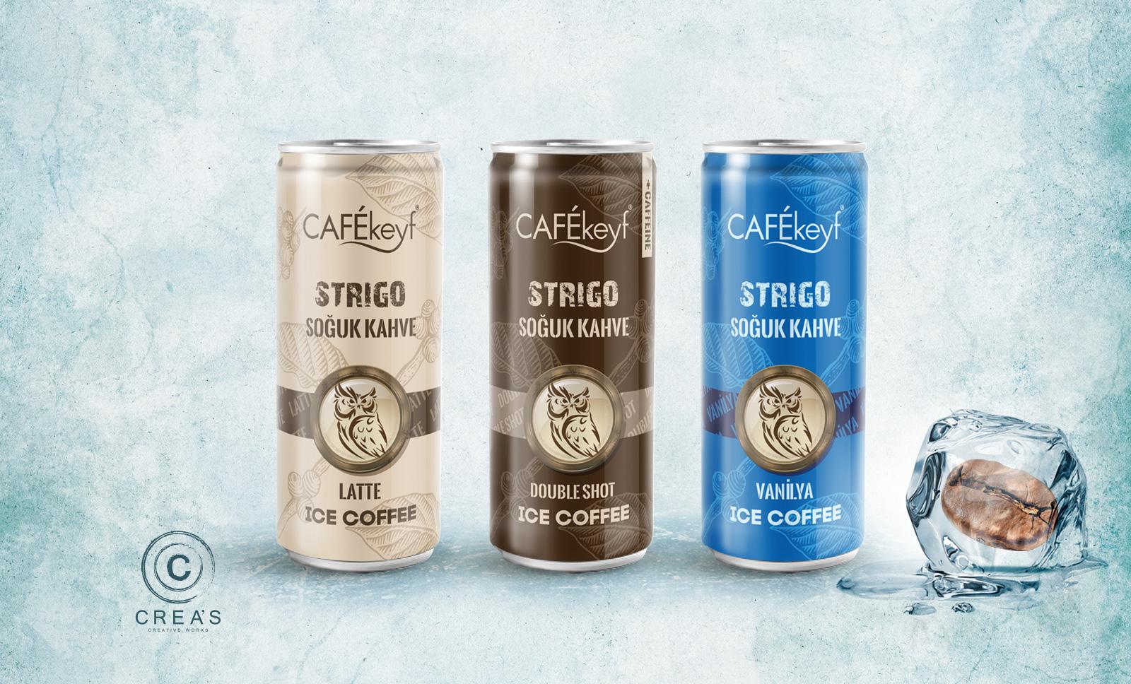 Creas Creative Tasarım ve Reklam Ajansı İzmir - Cafekeyf Soğuk Kahve Ambalaj Tasarımı