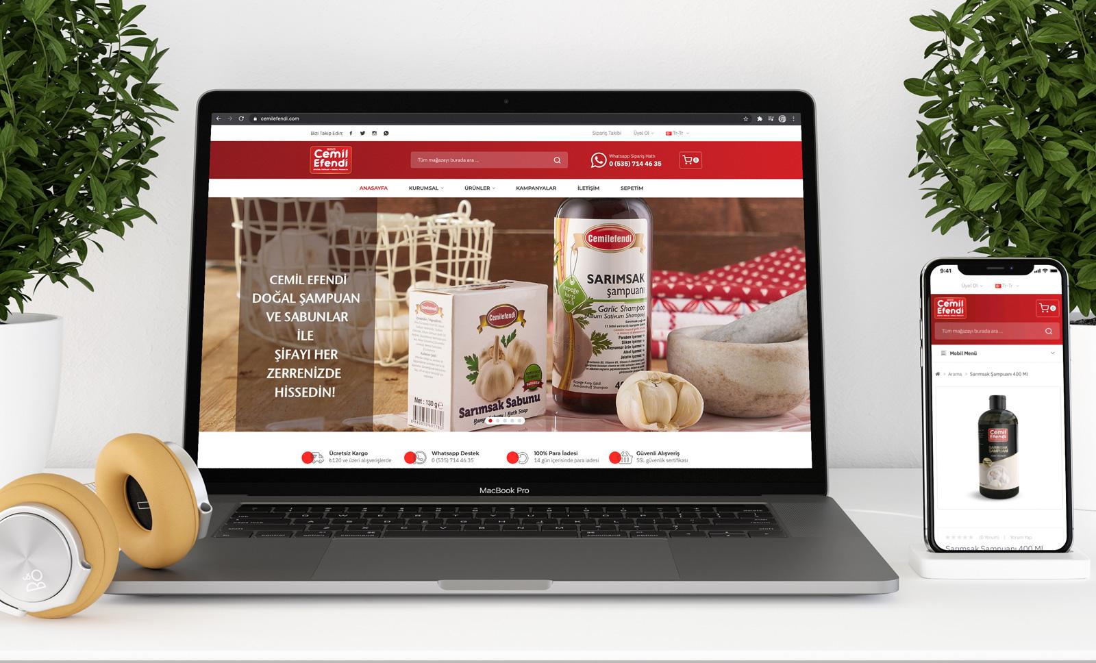 Creas Creative Tasarım ve Reklam Ajansı İzmir - Cemilefendi E-Ticaret Web Sitesi