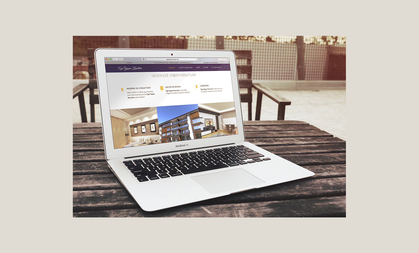 Creas Creative Tasarım ve Reklam Ajansı İzmir - Ege Yaşam Konutları Web Sitesi