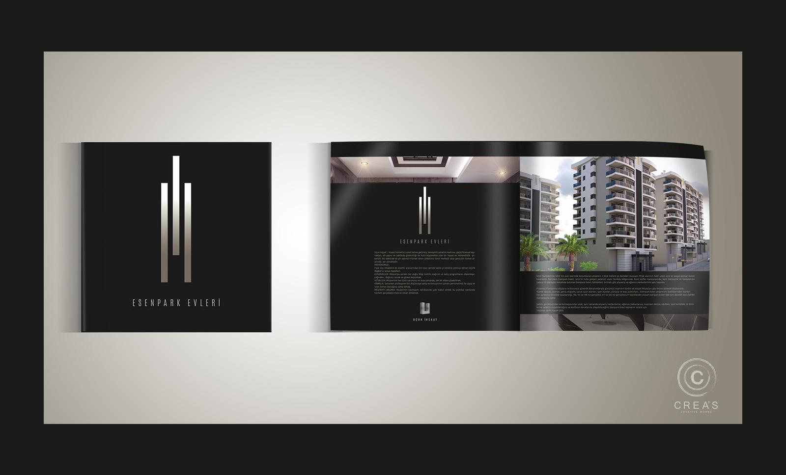 Creas Creative Tasarım ve Reklam Ajansı İzmir - Esenpark Evleri Katalog Tasarımı