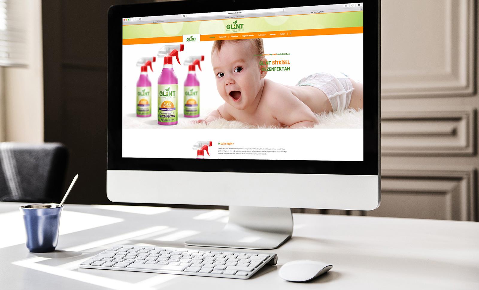 Creas Creative Tasarım ve Reklam Ajansı İzmir - Glint Web Sitesi Tasarımı