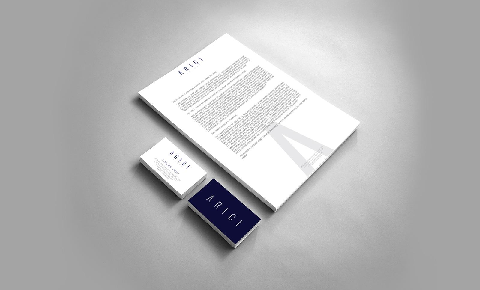 Creas Creative Tasarım ve Reklam Ajansı İzmir - Arıcı İnşaat Logo ve Kurumsal Kimlik Tasarımı