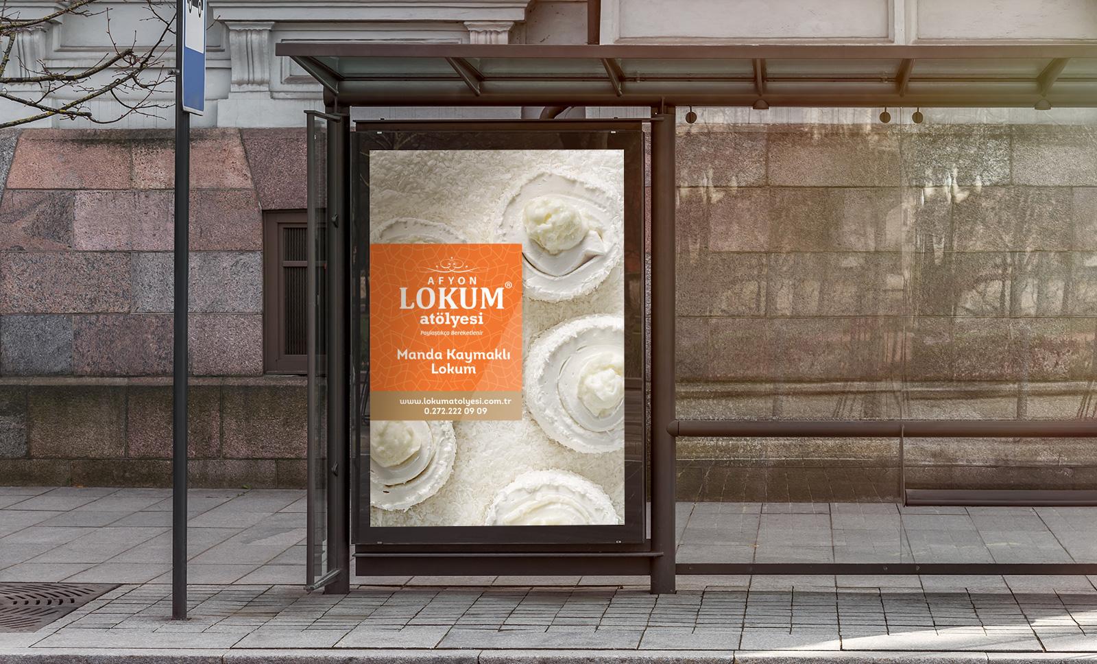 Creas Creative Tasarım ve Reklam Ajansı İzmir - Lokum Atölyesi billboard tasarımı