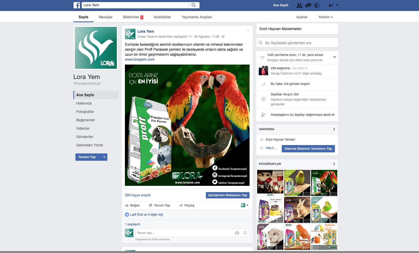 Creas Creative Tasarım ve Reklam Ajansı İzmir - Lora Yem Sosyal Medya Yönetimi