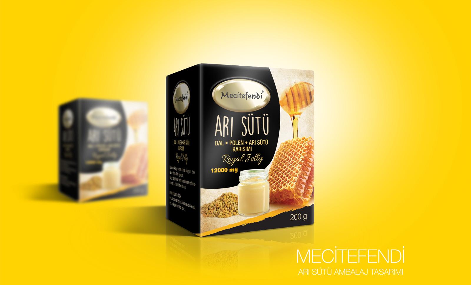 Creas Creative Tasarım ve Reklam Ajansı İzmir - Mecitefendi Arı Sütü Ambalaj Tasarımı