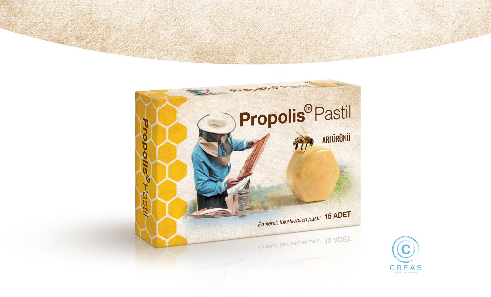 Creas Creative Tasarım ve Reklam Ajansı İzmir - Propolis Ambalaj Tasarımı