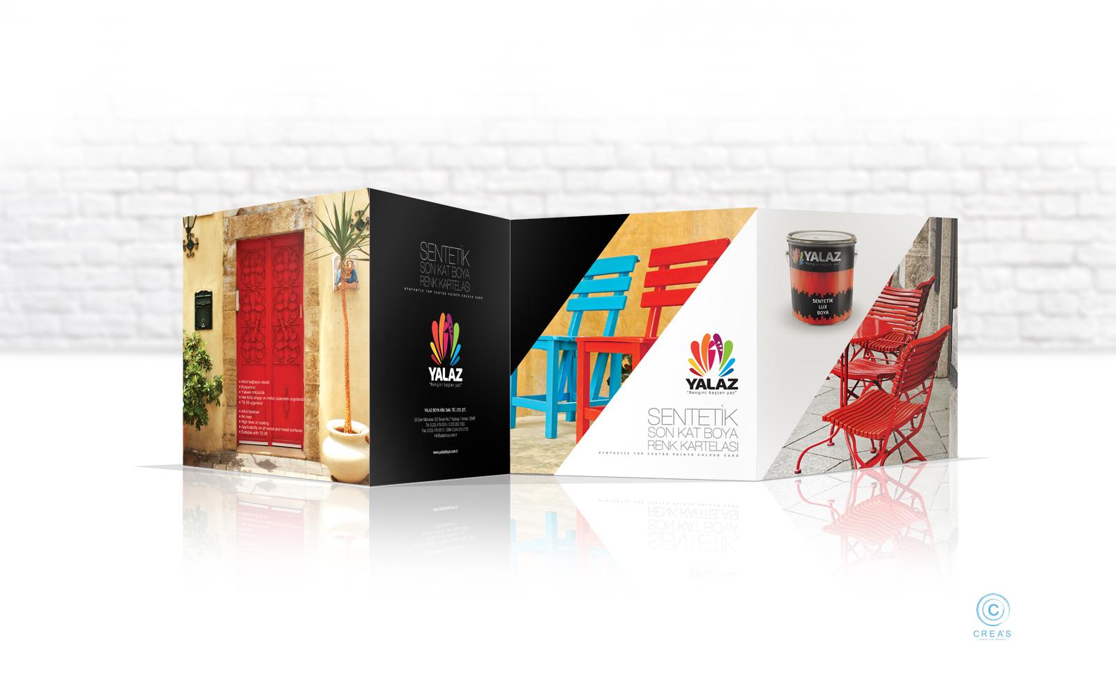 Creas Creative Tasarım ve Reklam Ajansı İzmir - Yalaz Boya Renk Kartela Tasarımı