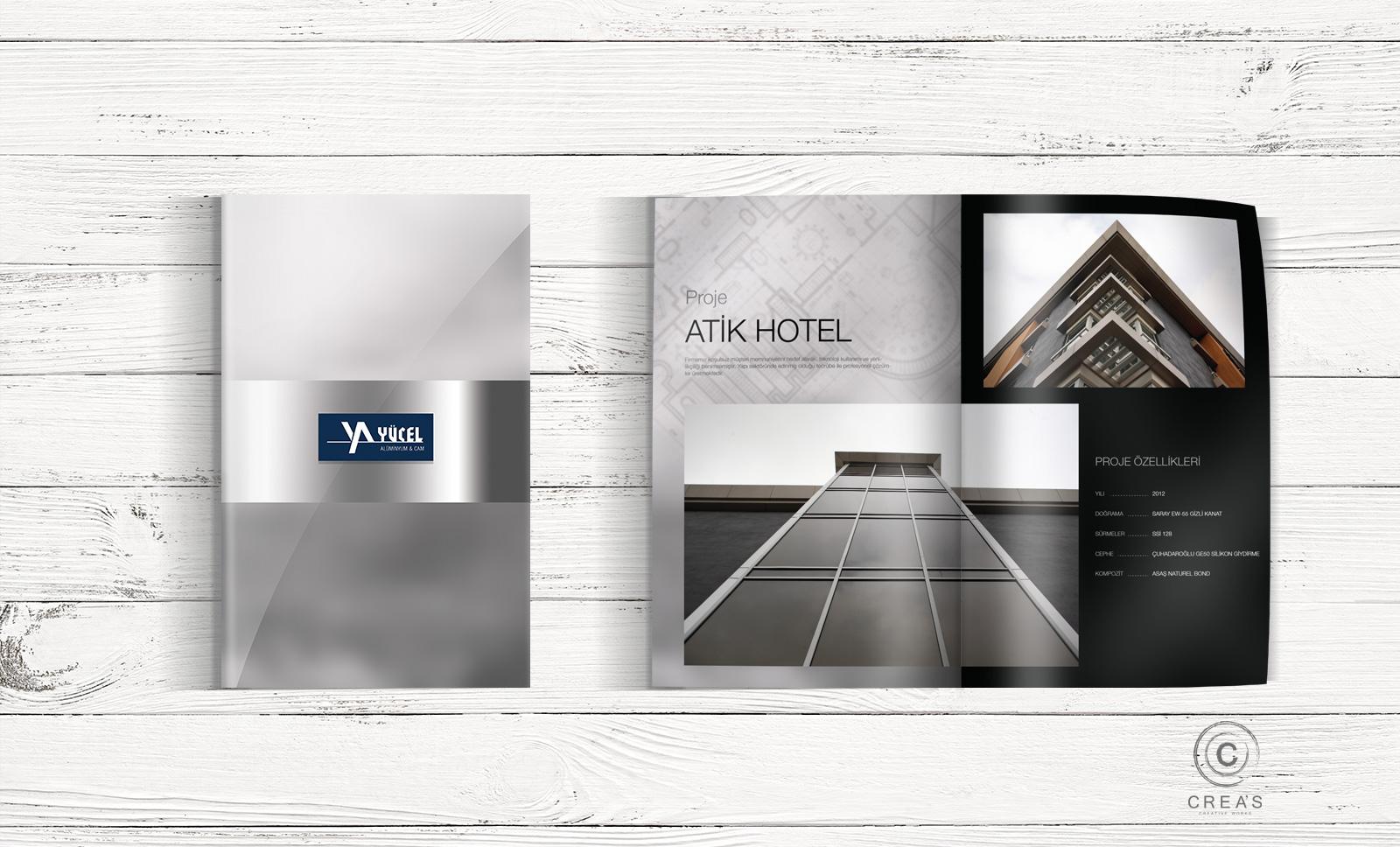 Creas Creative Tasarım ve Reklam Ajansı İzmir - Yücel Alüminyum Katalog Tasarımı